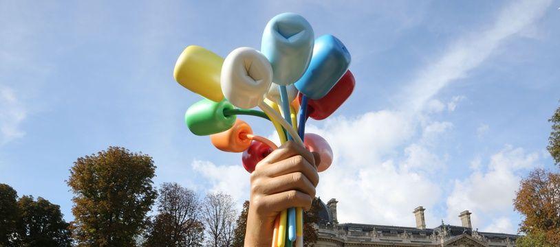 Le Bouquet de Tulipes de Jeff Koons, à Paris