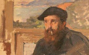 Claude Monet dans son atelier (Détail)