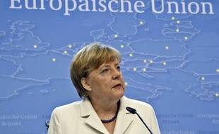 La chancelière allemande Angela Merkel, à Bruxelles (Belgique), le 13 juillet 2015.