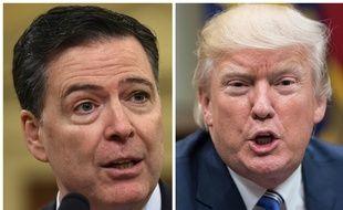 Photo montage de James Comey, ancien directeur du FBI et de Donald Trump.