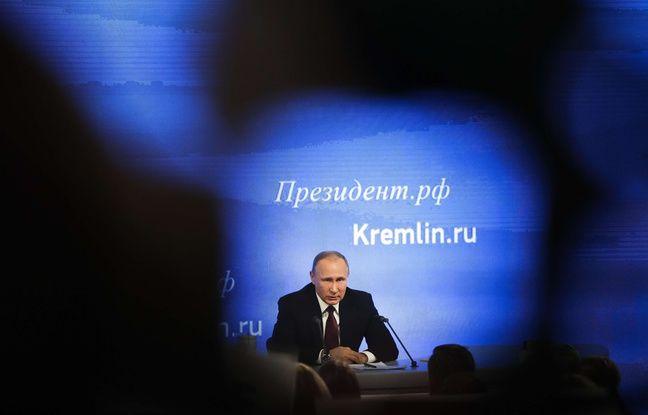 Le président Vladimir Poutine le 23 décembre 2016 lors de sa conférence annuelle.