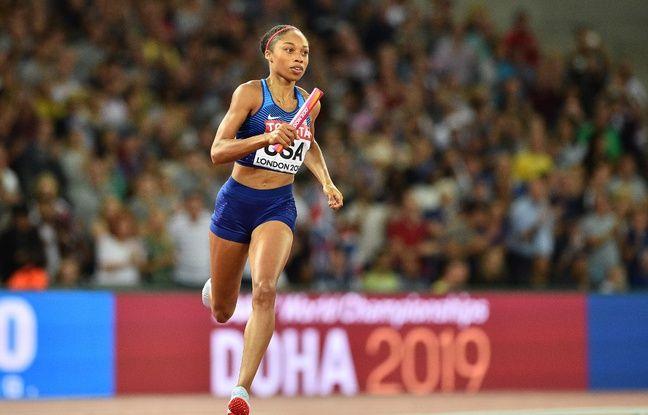 Allyson Felix a contribué à la médaille d'or du 4x400m féminin de la team USA aux championnats du Monde de Londres en 2017, avant de prendre une pause maternité dans sa carrière.