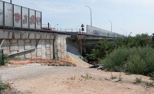 Une partie du pont de Genevilliers, en banlieue parisienne, s'est effondrée en mai 2018.