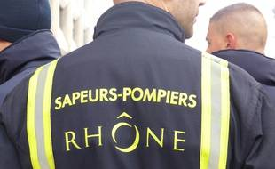Lyon, le 6 novembre 2017. Illustration de pompiers.