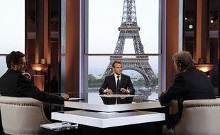 Emmanuel Macron le 15 avril 2018 à Paris.