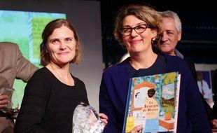 Raphaële Frier (à g.) et le directrice du salon Sylvie Vassallo