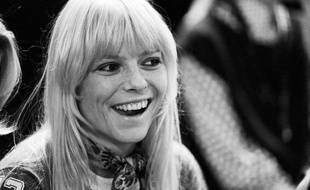 "France Gall lors de l'émission TV ""Top a Claude Francois"", le 13 septembre 1974."