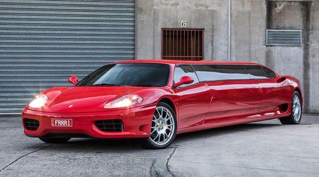 Vous ne rêvez pas : Il s'agit bien d'une limousine Ferrari !