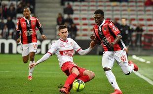 Clément Michelin, l'arrière droit du TFC, lors d'un match de Ligue 1 à Nice, le 3 février 2018.