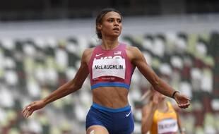 Sydney McLaughlin, sacrée championne olympique du 400m haies à Tokyo.