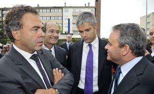 Beauvais (Oise), le 26 août 2011. Luc Chatel, Laurent Wauquiez et Xavier Bertrand.