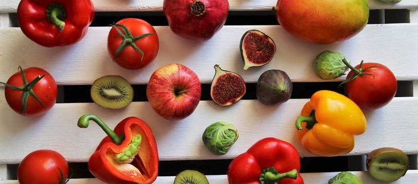 Illustration de fruits et légumes.