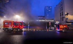 Intervention des pompiers pour un violent incendie à Choisy