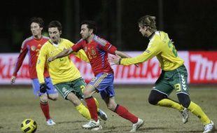 L'Espagnol Xavi contre la Lituanie, le 29 mars 2011.