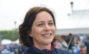 Nathalie Péchalat, ici lors d'une journée pour l'association Premiers de cordée en mai 2018, a été élue présidente de la Fédération française des sports de glace, le 14 mars 2020.