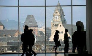 La gare de Metz vue du Centre Pompidou, construite pendant l'annexion.