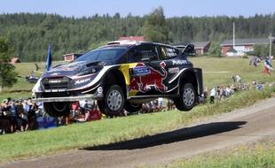 Sébastien Ogier, le 28 juillet 2018 en Finlande.