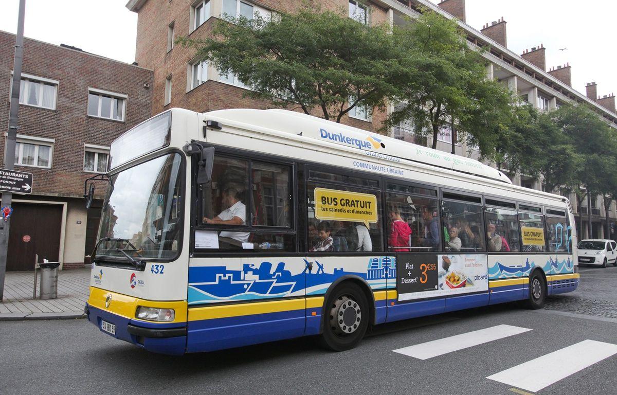 Un bus de l'agglomération de Dunkerque – CUD