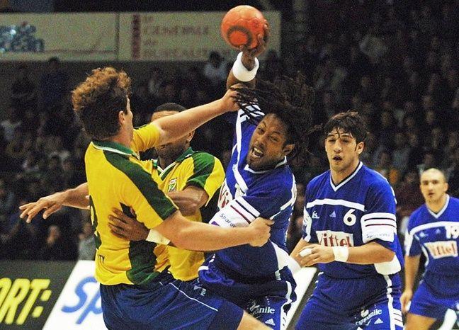 Richardson face au Brésil à Beaulieu, le 25 janvier 2001.
