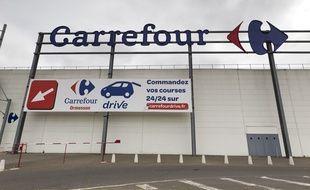 Le géant de la distribution Carrefour. (Illustration)