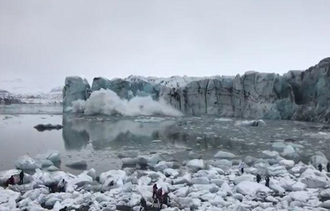 VIDEO. Islande: Des touristes assistent à l'effondrement d'un glacier