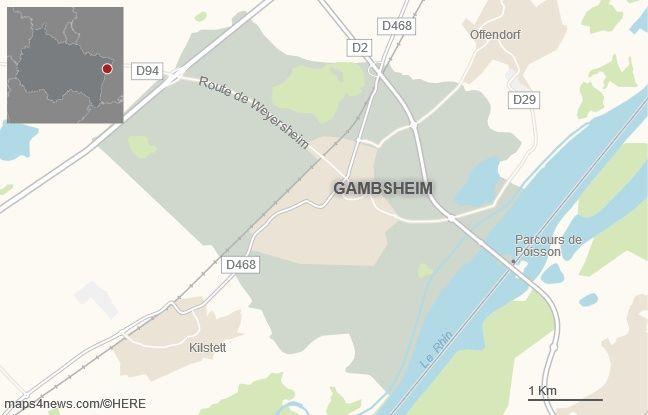 La commune de Gambsheim, dans le Bas-Rhin.