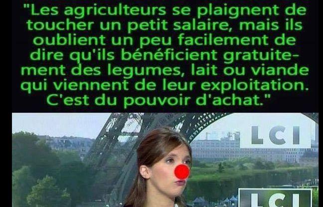 La fausse citation d'Aurore Bergé sur les agriculteurs.