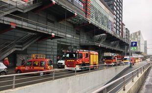 Déploiement de pompiers à Euralille, le 15 novembre 2016