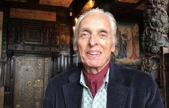 St Peter Port, Guernesey, le 5 avril 2019. - Jean-Baptiste Hugo, arrière-arrière-petit-fils de Victor Hugo.