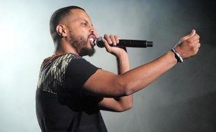 Le rappeur Disiz se produit au Festival des Vieilles Charrues, le 1er juin 2015 à Carhaix-Plouguer, dans le Finistère