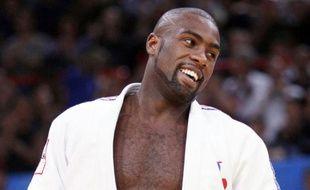 Le judoka français Teddy Riner, lors des championnats du monde de judo de Bercy, le 27 août 2011.