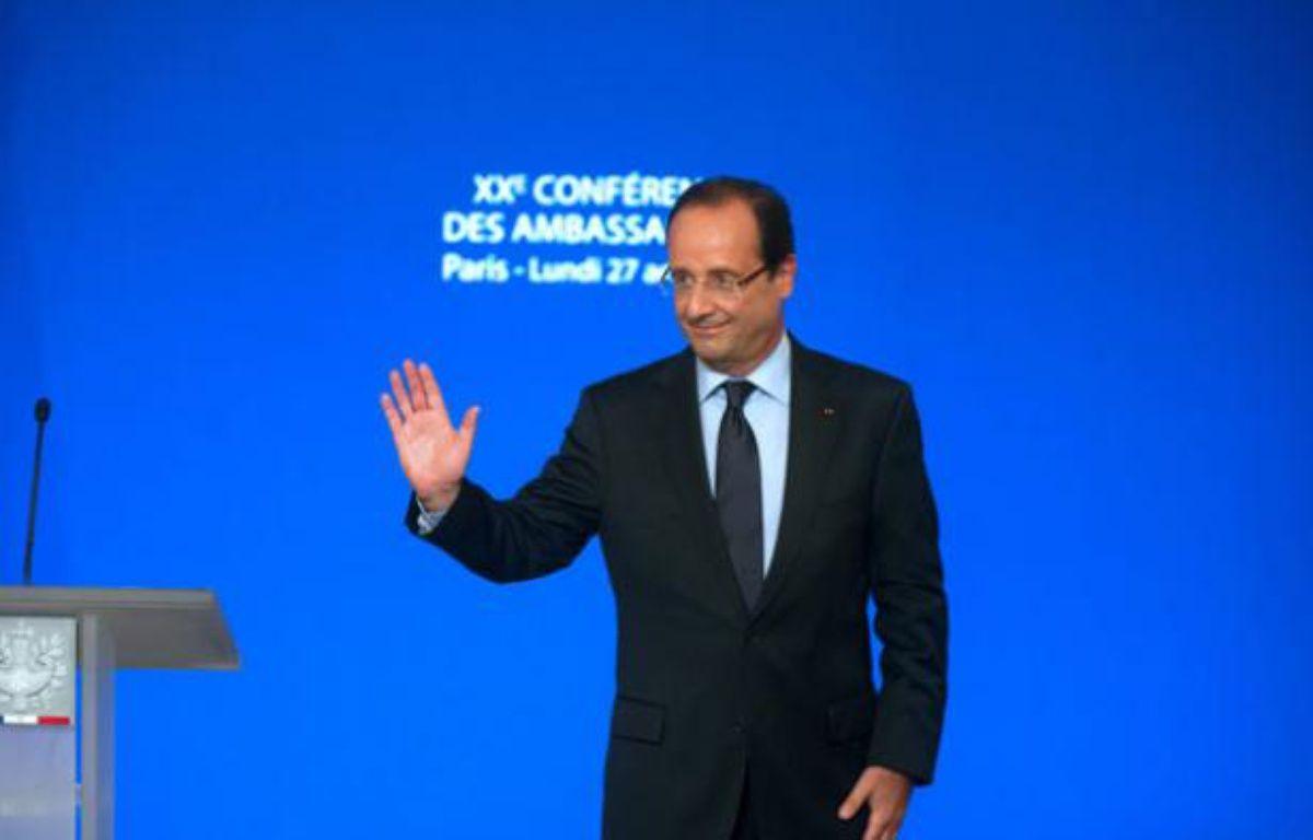 François Hollande, lors de la conférence des ambassadeurs à Paris, le 27 août. – AFP