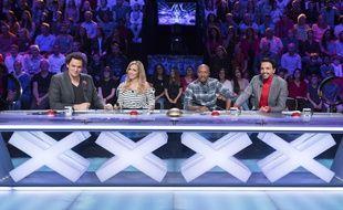 Eric Antoine, Hélène Ségara, Soprano et Kamel Ouali, les qutre jurés de la première demi-finale de la saison 12 de «La France a un incroyable talent».