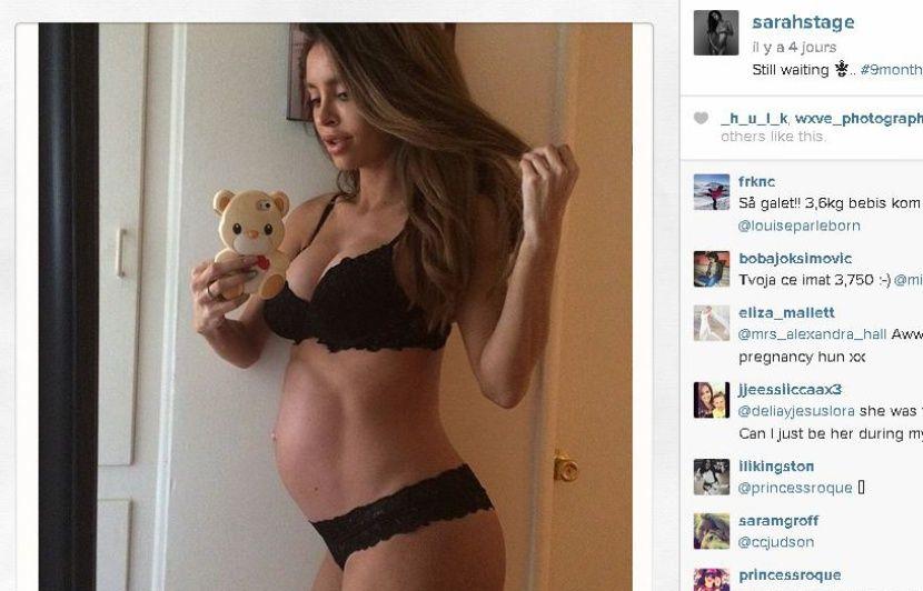 Très Le mannequin enceinte au ventre plat a accouché d'un «gros bébé» BY49
