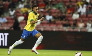 Neymar s'était blessé avec le Brésil face au Nigéria, en amical, le 13 octobre 2019.