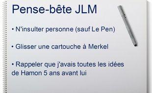 On a retrouvé la fiche de Jean-Luc Mélenchon à une cafet' place de la Bastille dimanche.