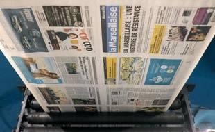 Le journal de gauche la Marseillaise sur les rotatives le 17 novembre 2014