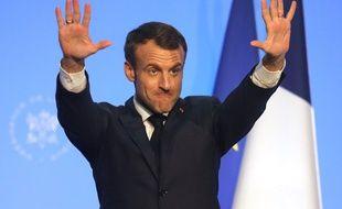 Emmanuel Macron lors de son déplacement au G20 en Argentine.