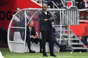 Patrick Vieira, alors entraîneur de Nice, lors d'un match de Ligue 1 contre Monaco, le 8 novembre 2020.