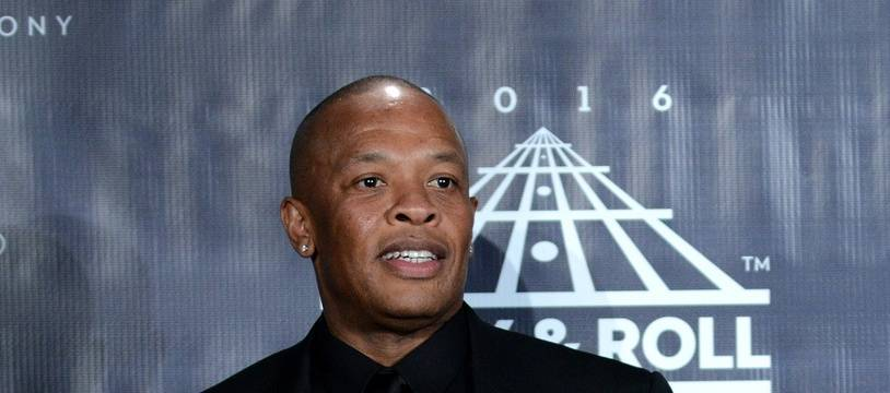 Le rappeur Dr. Dre à la 31ème cérémonie   Rock And Roll Hall Of Fame.