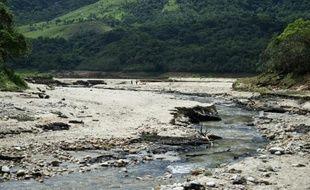 Le lit asséché de la réserve à Xerem, au Brésil, le 30 octobre 2015