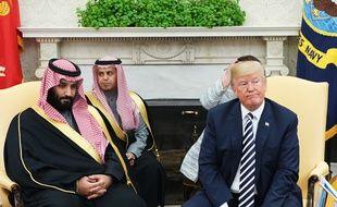 Le prince saoudien Ben Salmane et Donald Trump, le 20 mars 2018, à Washington D.C.