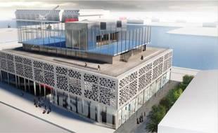 Visuel de synthèse du projet Radisson Blu Hotel & spa à Bordeaux.