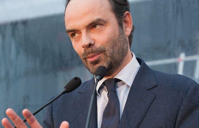 Edouard Philippe, député-maire Les Républicains du Havre (Seine-Maritime) aux chantiers navals de Saint-Nazaire le 1er février 2016.