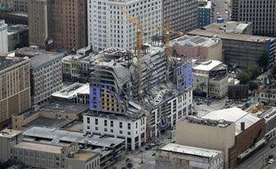 Un immeuble en construction, censé abriter le futur Hard Rock Café de La Nouvelle-Orléans, s'est effondré samedi 12 octobre 2019.