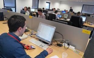 Le centre de services d'Accenture à Nantes emploie en majorité des informaticiens.