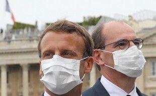Emmanuel Macron et Jean Castex, le 14 juillet à Paris.