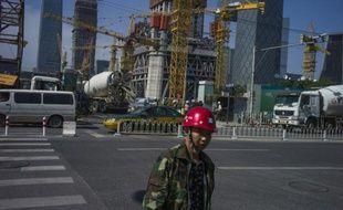 Un chantier de construction dans un quartier de Pékin, le 23 septembre 2015 en Chine