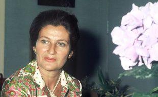 Simone Veil, photographiée chez elle en 1974.