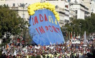 Plus d'un million de personnes d'après les organisateurs ont défilé contre l'avortement à Madrid le 17 octobre 2009.